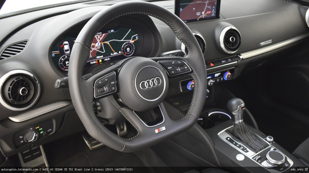 Audi A3 sedan 35 TDI Black line S tronic 150CV (AUTOMÁTICO) Diesel seminuevo de segunda mano 10