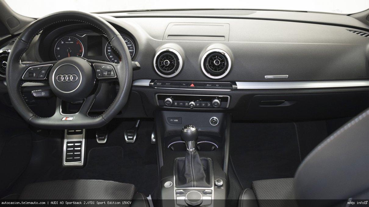 Audi A3 Sportback 2.0TDI Sport Edition 150CV Diesel seminuevo de segunda mano 7