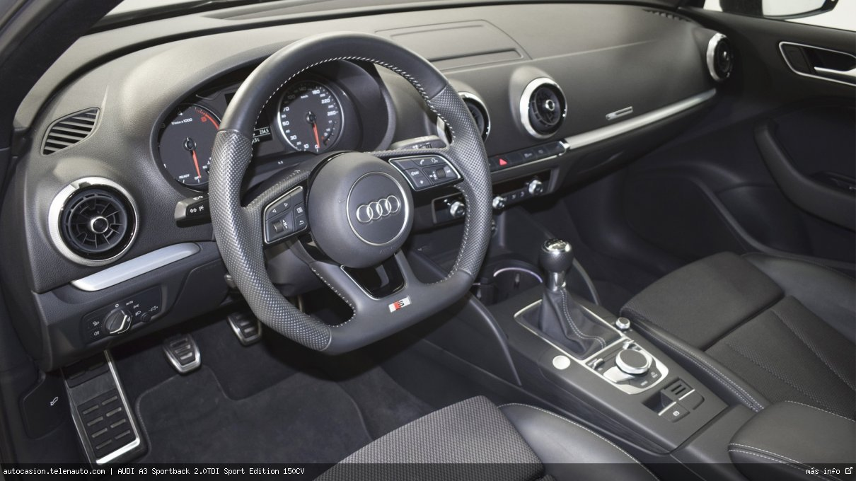 Audi A3 Sportback 2.0TDI Sport Edition 150CV Diesel seminuevo de segunda mano 9