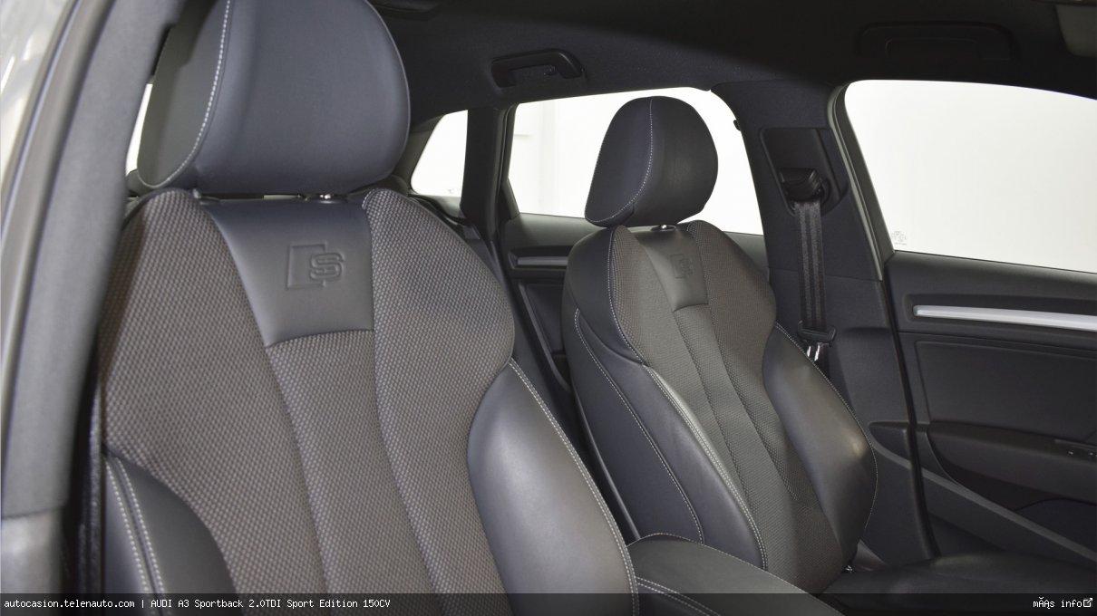 Audi A3 Sportback 2.0TDI Sport Edition 150CV Diesel seminuevo de segunda mano 10