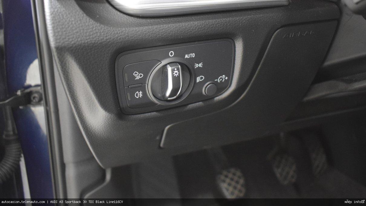 Audi A3 Sportback 30 TDI Black Line116CV Diesel de segunda mano 11