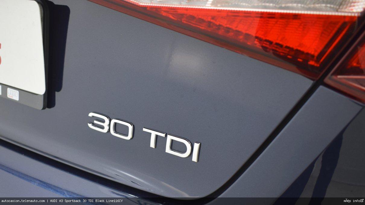 Audi A3 Sportback 30 TDI Black Line116CV Diesel de segunda mano 7