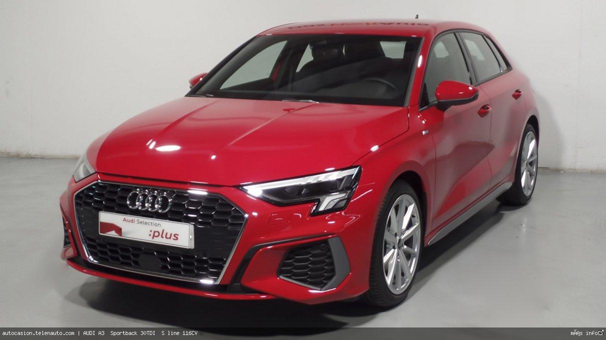 Audi A3  Sportback S line 35 TDI S tronic  150CV (AUTOMÁTICO) Diesel kilometro 0 de segunda mano 3