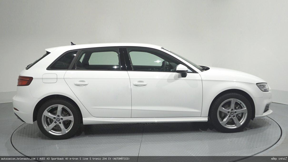 Audi A3 Sportback 40 e-tron S line S tronic 204 CV (AUTOMÁTICO) Hibrido kilometro 0 de segunda mano