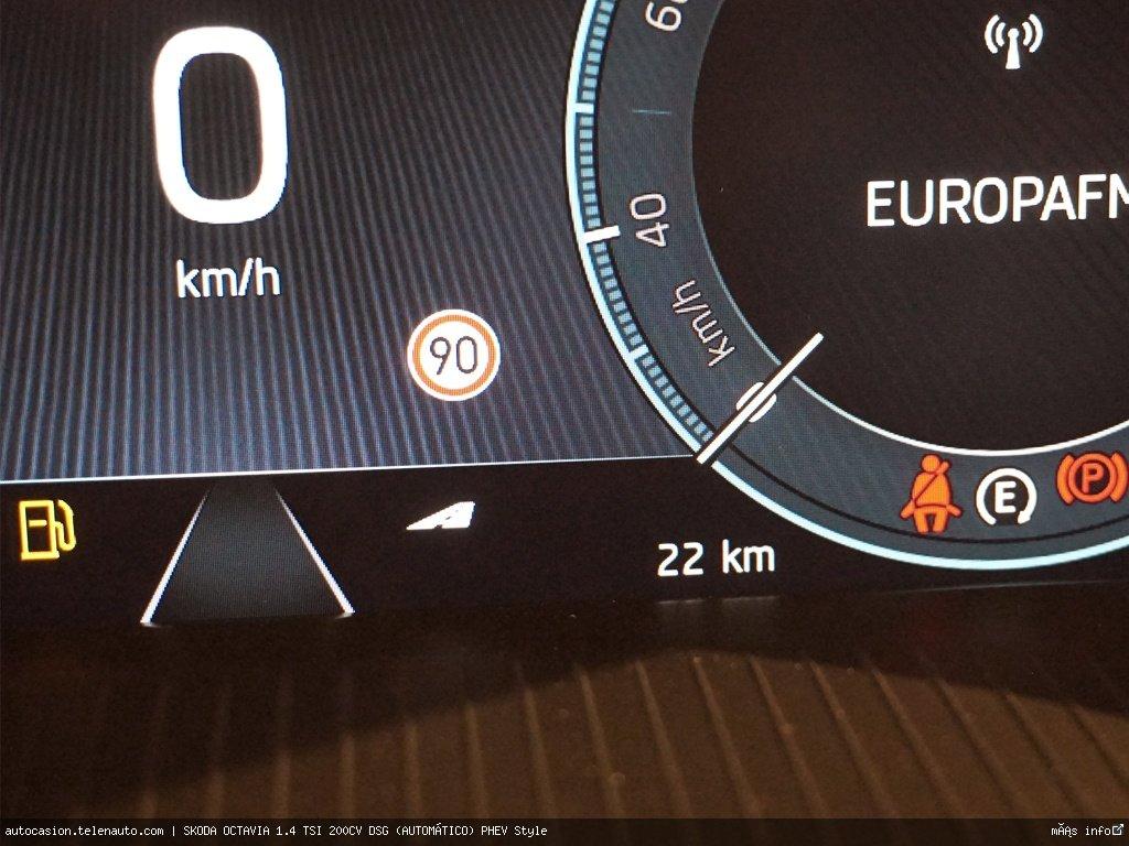 Skoda Octavia 1.4 TSI 200CV DSG (AUTOMÁTICO) PHEV Style Hibrido kilometro 0 de segunda mano 10
