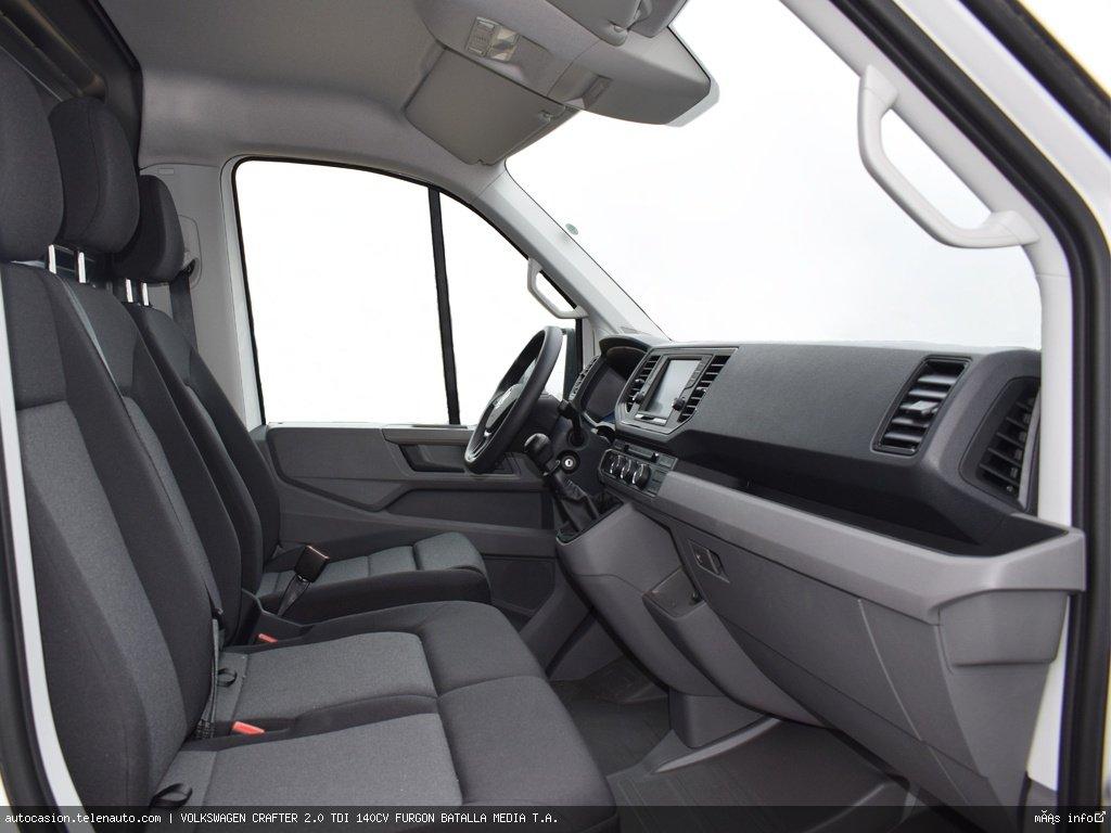 Volkswagen Crafter 2.0 TDI 140CV FURGON BATALLA MEDIA T.A.  Diesel kilometro 0 de segunda mano 4