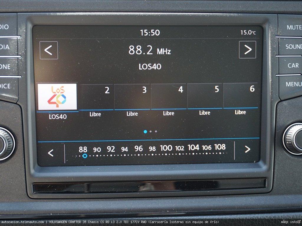 Volkswagen Crafter 35 Chasis CS RD L3 2.0 TDI 177CV RWD (Carrocería Isotermo sin equipo de frío)   Diesel kilometro 0 de segunda mano 9