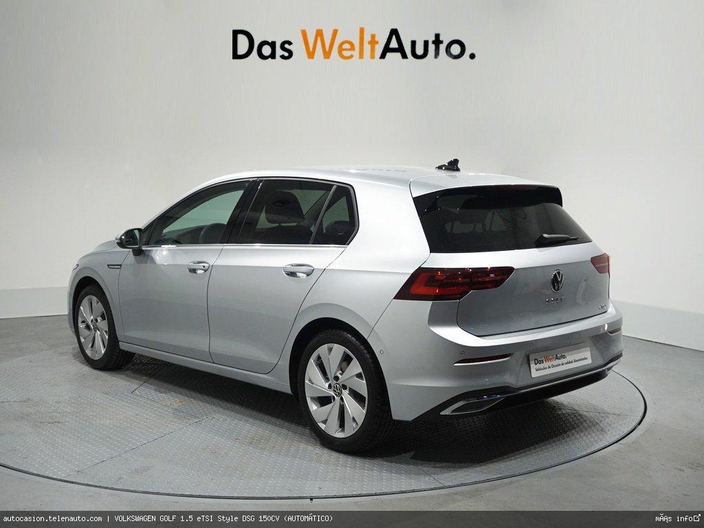 Volkswagen Golf 1.5 eTSI Style DSG 150CV (AUTOMÁTICO) Hibrido kilometro 0 de segunda mano 3