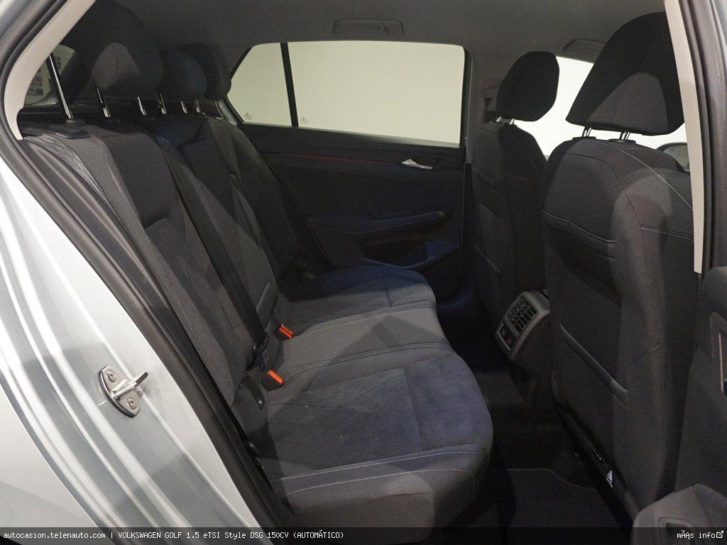 Volkswagen Golf 1.5 eTSI Style DSG 150CV (AUTOMÁTICO) Hibrido kilometro 0 de segunda mano 8
