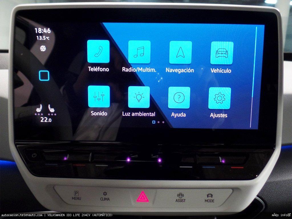 Volkswagen Id3 LIFE 204CV (AUTOMÁTICO) Electrico kilometro 0 de ocasión 8